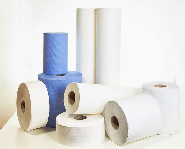 papír áruk - kéztörlő tekercsek