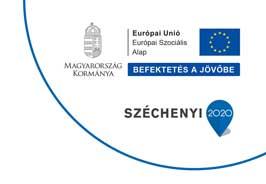 Európai Szopciális Alap és Széchenyi 2020 logó.